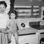 Snuggling together in the old house, Pampa, TX, circa 1954.